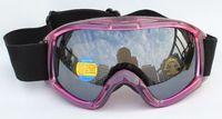 Free Shipping Double PC Black Lens Polarized Anti Fog Windproof Riding Ski Goggles Brand UV Protection Europe Snow Glasses Women