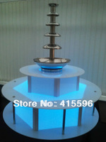 Christmas Eve Sales Free Fedex Commercial Chocolate Fountain Display LED Base illuminated Surround Retail 12 Months Warranty