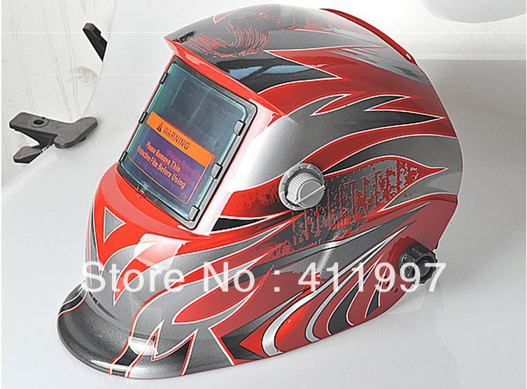 Red Solar Auto Darkening Welding Helmet Mask Grounding CE ANSI Certified New!(China (Mainland))