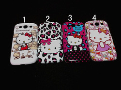 New case For SAMSUNG Galaxy i9300 mobile phone protective cover cartoon kt cat glossy hard shell hello kitty free shipping(China (Mainland))