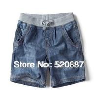 free shipping! summer new children's clothing wholesale Kids' denim shorts boys the light casual shorts belt