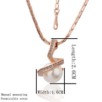 18K GP gold Chains  Pearl ball  pendant  for women different  Material style  necklace  Novel fashion Crystal Jewelry GPN15
