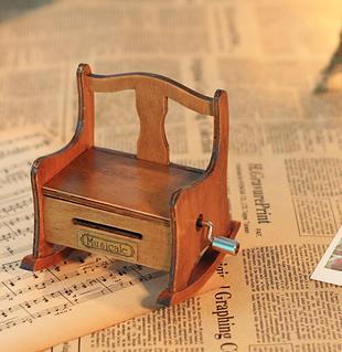 Paper tape music box music box rocking chair hand paper tape diy music box birthday gift