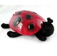 Promotion + free shipping The starry sky projection ladybug toys all over the sky star light sleep