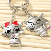 Free Shipping Min.order is $15 (mix order) Moblie Chain Key Chain Red too Wolf, gray Wolf with cute cartoon key chain