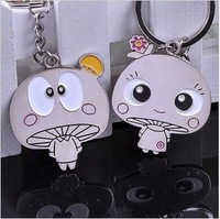 Free Shipping Min.order is $15 (mix order) Moblie Chain Key Chain Lovely mushroom dribs and drabs couple keychains