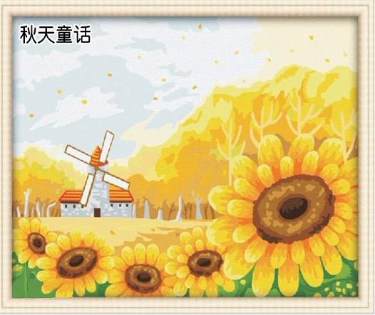 Online kopen wholesale zonnebloem tekeningen uit china zonnebloem tekeningen groothandel - Deco schilderij slaapkamer kind ...