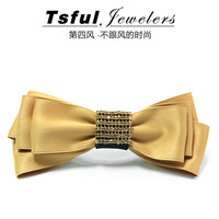Ts large bow hair clips hair accessories South Korean belt satin  clip clip spring clip