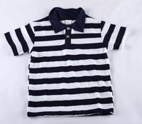 Wholesale 2013 Children's Stripe Short Sleeve T-shirt Baby Boys Lapel fashion Free shipping baby gift hot 1pcs