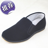 Men's old Beijing cloth shoes black non-slip rubber soles work shoes