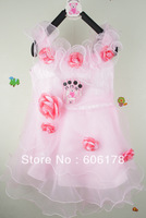 2013 summer new fashion Children&#39;s princess dress  4pcs/LOT