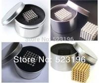 Neodymium Four Colors 216 Pcs/Set 5mm Neo Cube N35 Neocube Balls With Tin Box Free Shipping Silver