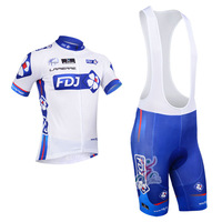 2013 FDJ team cycling jersey/cycling wear/cycling clothing shorts bib suit-FDJ-1A  Free shipping