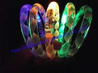 Free shopping fluorescent bracelets LED flash light colorful bracelet Christmas party decorations
