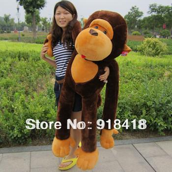 Giant monkey skin 43'' /110CM the skin of stuffed plush monkey toy stuffed animal Valentine gift for Girls Free shipping