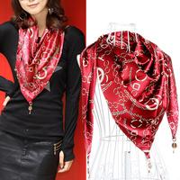 W94 2014 autumn double layer silks and satins silk scarf pendant silk bib scarf cape