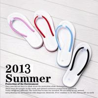 2014 lovers slippers female summer flip flops slippers derlook beach slipper flip slippers