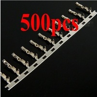 500Pcs Dupont Jumper Wire Cable Housing Female Pin Connector Terminal 2.54mm   free  shipping  wholesale