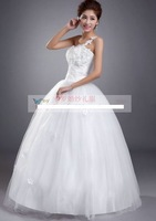 312 Free shipping new women fashion sexy one shoulder appliques beading ball gown wedding dresses