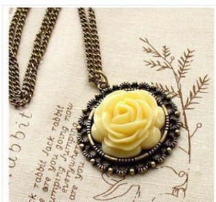 Mixed batch of refined European style / retro palace rose long necklace clothes necklace Free Shipping