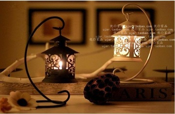 Free shipping European style artistic countryside  Landing candlestick metal handicraft Candle Holder stand birthday gift