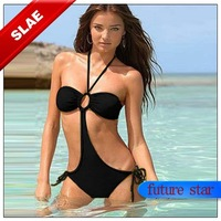 Free Shipping Hot Sale Swimwear Sexy Lady Padded Boho Fringe Bandeau Top Strapless Dolly Bikini Set New Swimsuit