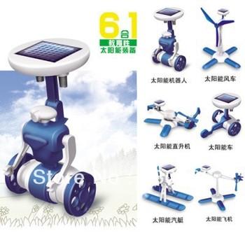 Solar energy robot puzzle toy