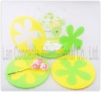 Free shipping Fashion Felt Coaster Cup Pad Cup Mats Cup Coaster glass Coaster - each color 50pcs/lot LCF0015