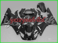Y268 Total Dark Black Fairing for YZF R1 00-01 YZF-R1 2000-2001 YZF1000 1000 YZFR1 00 01 2000 2001