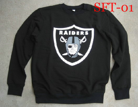 2013 new style raiders long sleeve t shirts Men leisure hoodies ,cotton shirts football t shirts ,bulls 49ers sweaters(China (Mainland))