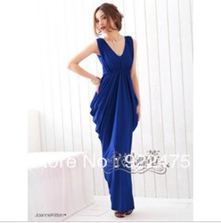 free shipping, 2013 new arrival fashion women sexy V-neck lace bow slim long dress,cb393(China (Mainland))