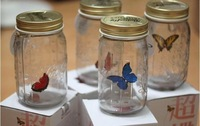 Free Shipping 4 Different Colors Recesky Butterfly Jar Tank for Valentines Holiday Gifts