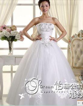 347 vestido de noiva 2014   fashionable sexy beadings elegant appliques   bridal wedding dress  bride bridal gown dresses