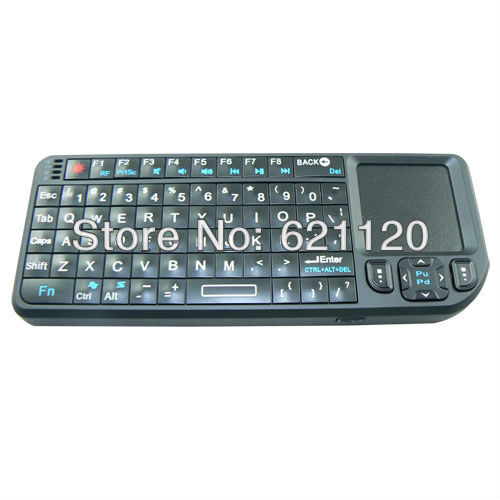 New Brand High Quality 2.4G Wireless Keyboard keyPad touch for PC Tablet TV Box Black Free shipping CC31(China (Mainland))