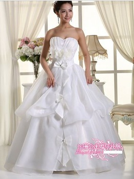 350 Free shipping new women fashion sexy appliques straps elegant ball gown bridal wedding dresses