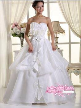 350 vestido de noiva 2014   fashionable sexy appliques straps elegant   bridal wedding dress  bride bridal gown dresses