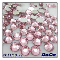 SS12 10000pcs/pack Light Rose Color Flat back Acrylic Rhinestones Free Shipping