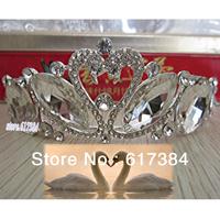 Wedding Bridal Bridesmaid Pageant Prom Swan Princess crystal tiara crown headband free shipping