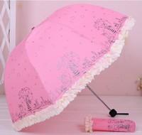 New Arrival! Cute Cartoon Anti-Ultraviolet Umbrella Beautiful Sun Umbrella Rain Umbrella Free Shipping