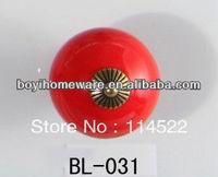 New design red ceramic knobs furniture handles knobs wardrobe and cupboard knobs drawer dresser knobs cabinet pulls BL-031