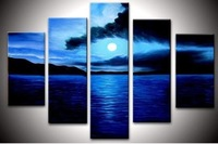 100% Handmade Beach Canvas Painting ,Large Wall Art ,Top Home Decoration JYJLV250