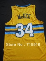 #34 Javier Mcgee yellow snow-capped mountains new fabrics jersey