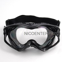 Exquisite outdoor motorcycle helmet goggles cross country skiing windproof mirror goggles black transparent lens