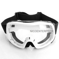 Outdoor motorcycle helmet goggles cross country skiing windproof mirror goggles white box transparent lens