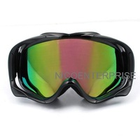 Motorcycle helmet goggles cross country skiing windproof mirror goggles black multicolour reflectors