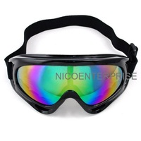 Motorcycle helmet goggles cross country skiing windproof mirror goggles black multicolour reflective lens