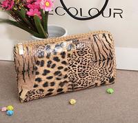 Super 2013 wallet, purse fashion PU zipper designer wallets for women, chain link Clutch,1 pcs free gift