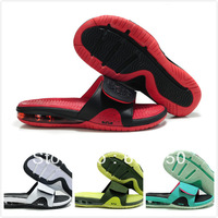 2012 Wholesale Retail brand lebron slippers sport beach for men, genuine leather max 45 in stock, branded with box, tags,