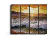 30X80CMX4P,Top Home Decoration!! 100% Handmade Modern Abstract Oil Painting On Canvas,Wall Art , JYJLV271