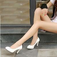 3t1 xg 2014 Elegant white black japanned platform high-heel heels  women's bridesmaid  wedges pumps wedding boat single shoes